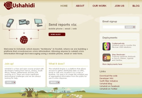 Ushahidi > platform of crowdsources crisis information